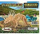 Styracosaurus Dinosaur 3D Puzzle, Woodcraft Construction Kit