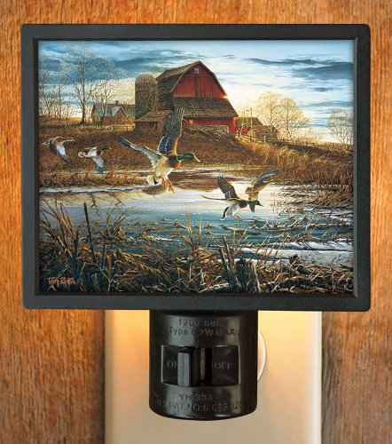 Morning Chores Farm Scene Gallery Art Night Light by Terry Redlin - 1