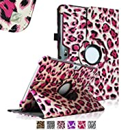 Fintie (Leopard Magenta) 360 Degrees Rotating Stand Case Cover for Samsung Galaxy Note 10.1 inch Tablet N8000...