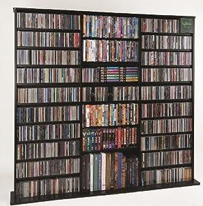 Oak Veneer High Capacity Wall Rack (CDV-1500 Series) Black