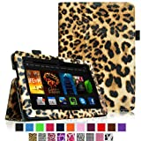 "Fintie Amazon All-New Kindle Fire HDX 7 Folio Case Cover - Auto Sleep/Wake (will only fit Kindle Fire HDX 7"" 2013), Leopard Brown ~ Fintie"