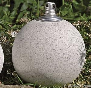 llampe lampe dekokugel kugel stein garten d18cm h24cm. Black Bedroom Furniture Sets. Home Design Ideas