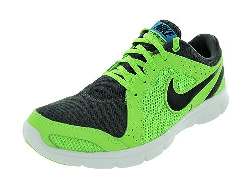 Mens Nike Flex Experience Run Running Shoe Anthracite/Flash Lime/Blue Hero/Black