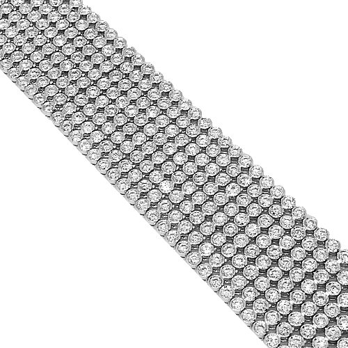 18K White Gold Womens Diamond Bracelet 16.43