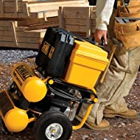DEWALT D55154 1.1 HP Continuous 4 Gal Electric Wheeled Dolly-Style Air Compressor with Panel from DEWALT