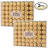 Ferrero Rocher Fine Hazelnut Chocolate, 96 Count ( 48 pieces per pack - Pack of 2) (Tamaño: 96 Count)
