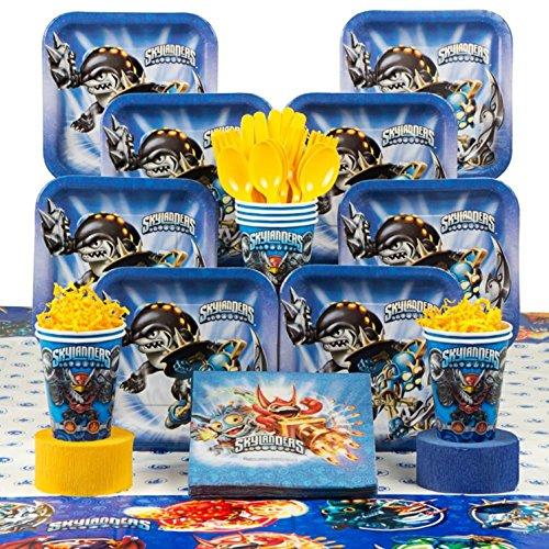 Skylanders Birthday Party Deluxe Tableware Kit Serves 8