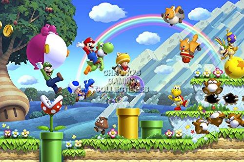 "CGC Poster grande, motivo: Super Mario, Nintendo Wii U-MAR032 Bros. 2, Carta, 24"" x 36"" (61cm x 91.5cm)"