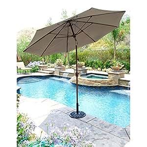 Galtech 9 Ft Auto Tilt Market Umbrella