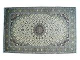 Oversize Persian Kashan Silk Flowers Sheikh Safi Design Rug (16'5