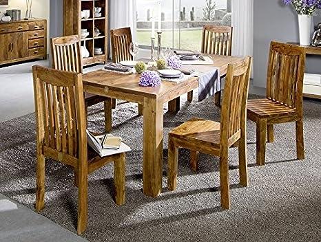 Miel bois d'acacia massivmöbel table 160 x 90 massif möbel shaman#104