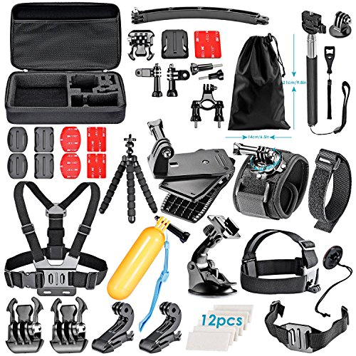 Neewer-50-In-1-Sport-Accessory-Kit-for-GoPro-Hero4-Session-Hero1-2-3-3-4-SJ4000-5000-6000-7000-Xiaomi-Yi-in-Swimming-Rowing-Skiing-Climbing-Bike-Riding-Camping-Diving-and-Other-Outdoor-Sports