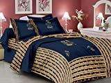 Lali Prints patchwork Jaipuri Ethinic Print 1 King Size bedsheet and 2 pillow covers