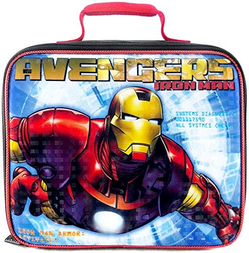 Avengers Lunch Bag Iron Man Black REd Blue - 1