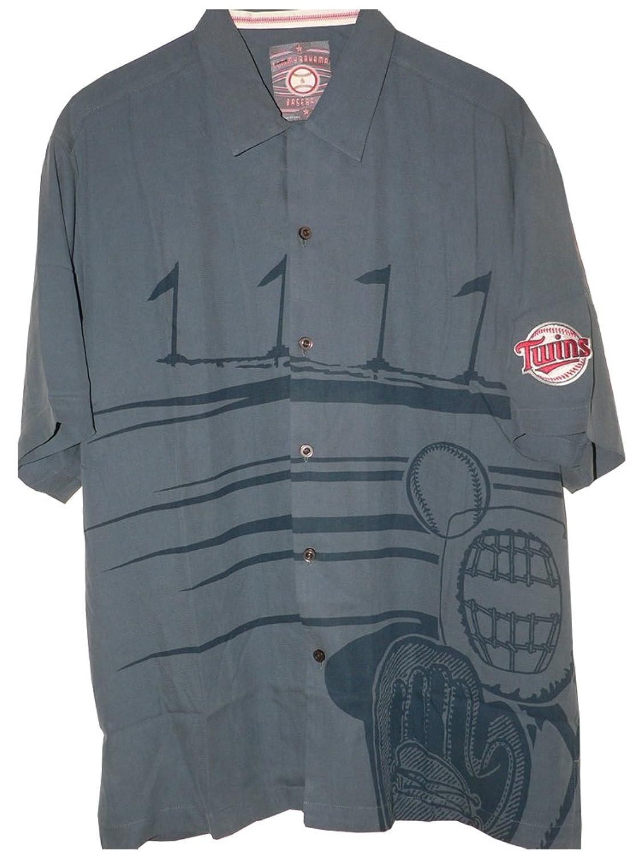 Tommy Bahama MLB Official Game of Summer Silk Baseball Camp Shirt