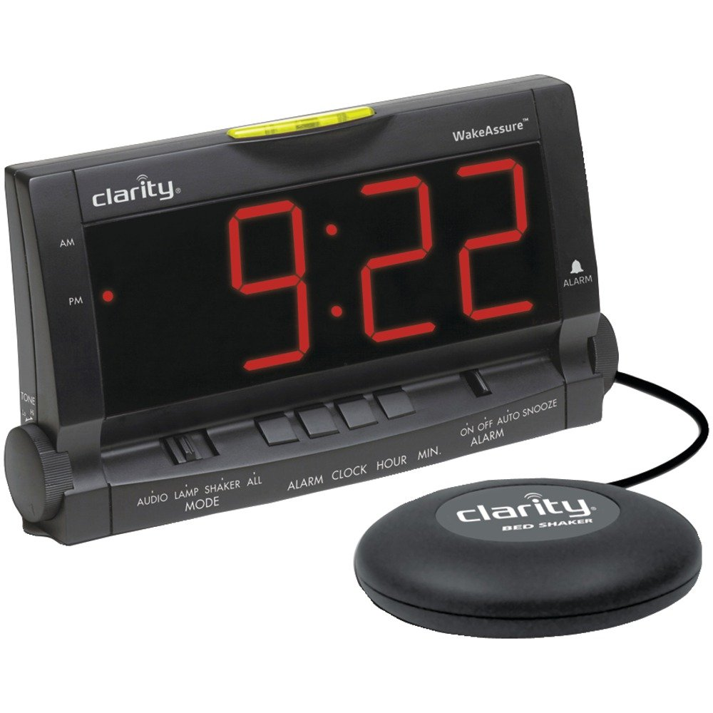 Wake Assure Alarm Clock 85dB - Black
