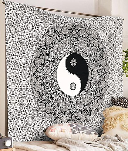 Twin Size Hippie Tapestry Wall Hanging Traditional Yin