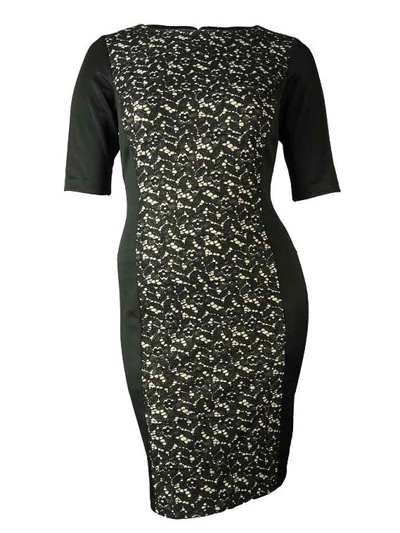 Sandra Darren Women's Lace Illusion Panel Dress