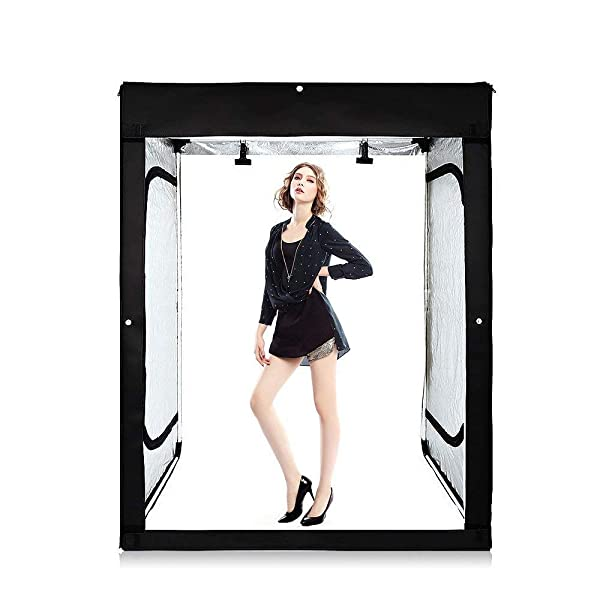 Professional 47''x20''x55'' Photo Lighting Studio Dimmable Large Lightbox Shooting Tents Kit with 3 Colors PVC Backdrops (Color: 47''x20''x55', Tamaño: 47''x20''x55'')