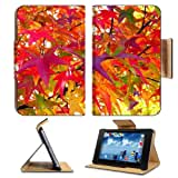 Multi Colored Autumn Leaves Fall Google Nexus 7 Flip Case Stand Magnetic Cover Open Ports Customized Made To Order...