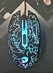 Technotech USB Gaming Mouse T1 Dragon Logo Wired Mice 2400 DPI Multi Color Braided Wire