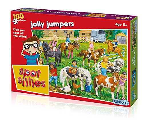 Gibsons Spot The Sillies - Jolly Jumpers Jigsaw Puzzle (100-Piece)