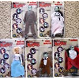 "Classic TV The MUNSTERS Complete Set 5 Dolls 8"": Lily Munster, Herman, Grandpa, Marilyn & Eddie Munster Dolls (2004)"
