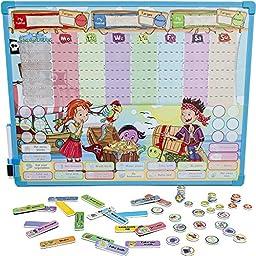 Pirates Reward & Responsibility Chore Chart   Multiple Children   Magnetic Dry Erase Board   Improved Behavior   Star Incentives   by Kid Rockett