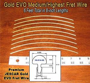 guitar fret wire jescar gold medium highest size six feet musical instruments. Black Bedroom Furniture Sets. Home Design Ideas