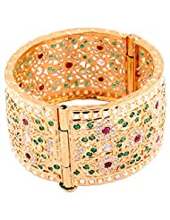 TKD Jewellers Multi-Colour Color Traditional Wear Gold Plated Forming Bangle For Women (TKDJ068)