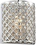 """Possini Euro Design Glitz 8 1/2"""" High Pocket Wall Sconce"""