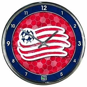 MLS New England Revolution Chrome Clock by WinCraft