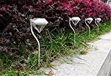 トウタク(Taotuo)4枚セット おしゃれ 上品 昼白色 ダイヤモンド型 LED ソーラーライト ガーデンライト アウトドアライト 防水 ソーラ式充電 昼間 自動充電 夜間 自動点灯 屋外 玄関 ガーデニング 用 照明 飾り 綺麗