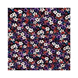 ArtOFabric Faux Purple and Red FlowersTablecloth Vinyl 58x108 Inches
