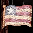 New Carved Wooden USA American Flag Decorative Plaque for Arrow Hanger