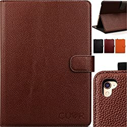 iPad Pro Case, 9.7 (2016) Genuine Leather in Brown by CUVR ¬ With Auto Sleep, Pencil Holder and Multiple Standing Angles. Cover Your Apple in Luxury!