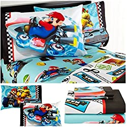 Nintendo Mario Kart Super Mario Bros Sheet Set - Full