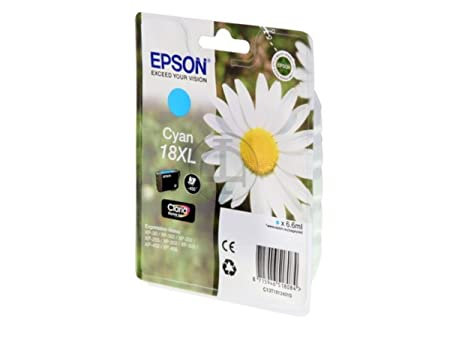 Epson Expression Home XP-412 (18XL / C 13 T 18124010) - original - Ink cartridge cyan - 450 Pages - 6,6ml
