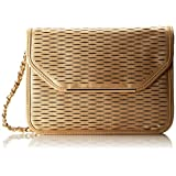 Ivanka Trump Crystal Slit Lasercut Flap Shoulder Bag