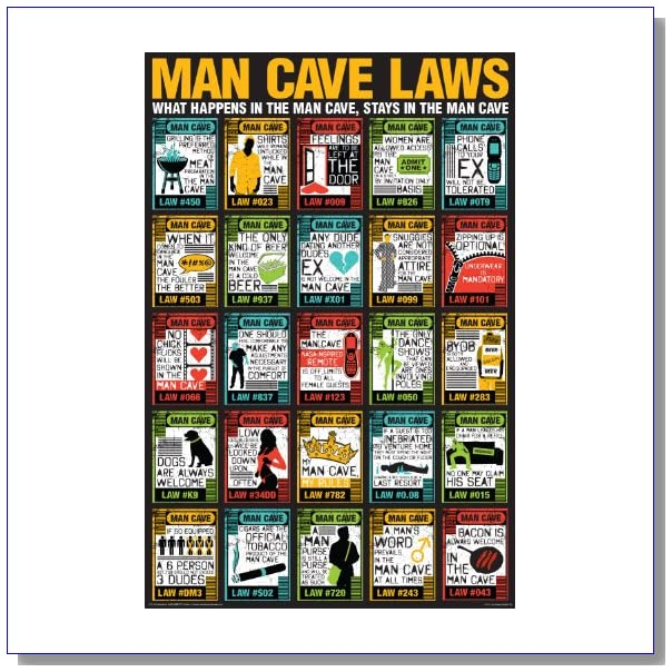 NMR/Aquarius Man Cave Laws Poster