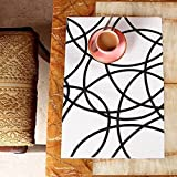 KolorFish Basket Weave Designer PVC Dining Table Kitchen Placemats Table Mats, 6 Pieces