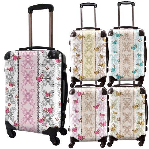 フェミスーツケース/ベーシック/フレーム4輪/TSAロック/機内持込可能/キャラート/グリーン ブラウン ピンク グレー ブルー/CRA01-005