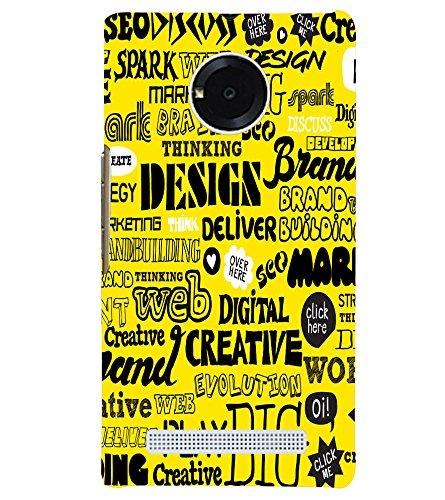 Creative Design 3D Back Cover for YU Yuphoria::Micromax Yuphoria YU5010-D3170