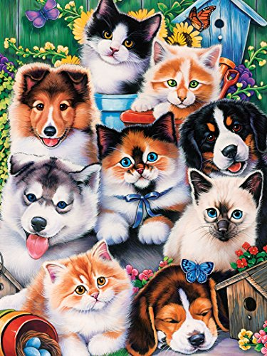 MasterPieces Puzzle Company Playful Paws Pet Pals EZ Grip Jigsaw Puzzle (300-Piece), Art by Jenny Newland