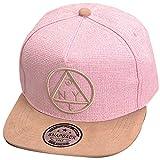 THENICE Damen Hip-Hop Dreieck Muster Cap Baseball Hut (rosa)