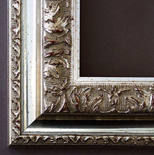 Specchio da parete-guardaroba specchio corridoio bagno specchio-su taglie 200-Roma argento 6,5, Dimensioni esterne dello specchio, argento, 80 x 90