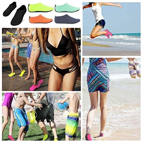 SHOESKISS Barefoot Water Skin Shoes Aqua Socks for Beach Swim Surf Yoga Exercise (1. S(W:5-6, US Kids:3-4), Pink)