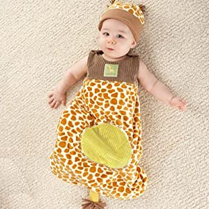 Baby Aspen BA15003GR - Born To Be Wild - Giraffe Snuggle Sack and Hat