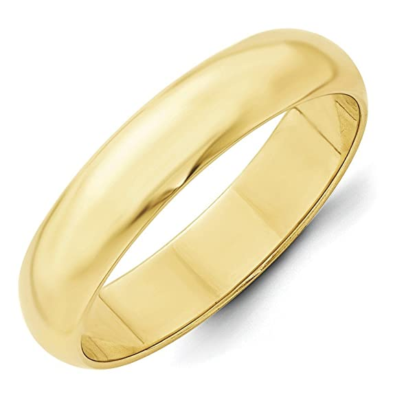10k Yellow Gold 5mm Half Round Band Size U 1/2 Ring - Higher Gold Grade Than 9ct Gold