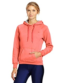 Champion Womens Eco Fleece Hoodie, Starling Orange Heather, Medium
